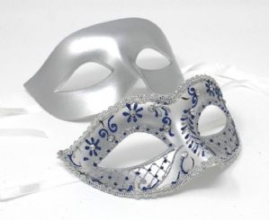 Blue Masquerade Couples Masks - His and Hers Masks | Masks and Tiaras